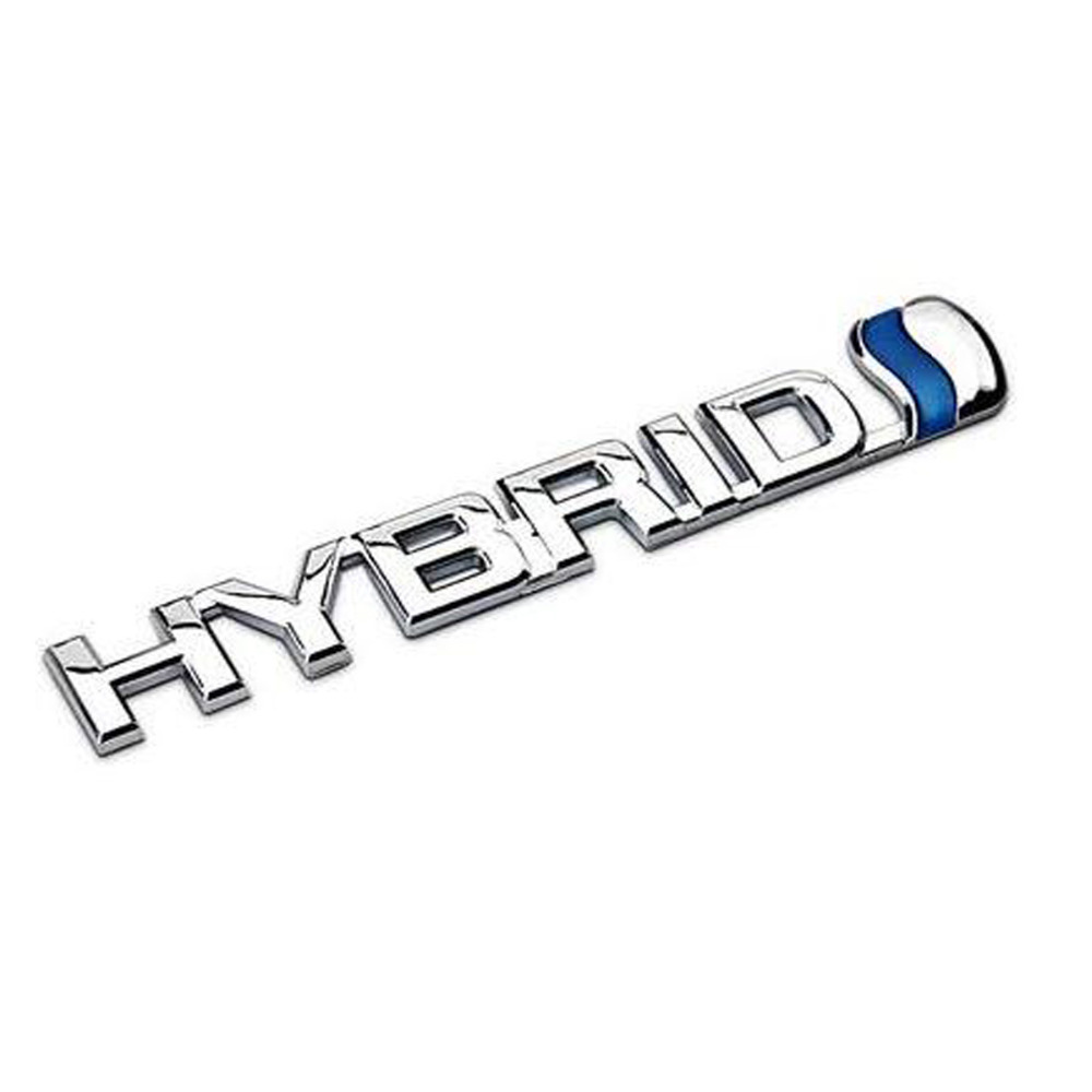 Dsycar 3D Metal HYBRID Car Sticker Emblem Badge For Jeep BMW Ford Volvo Nissan Mazda Audi VW Honda Toyota Lada Chevrolet Buick