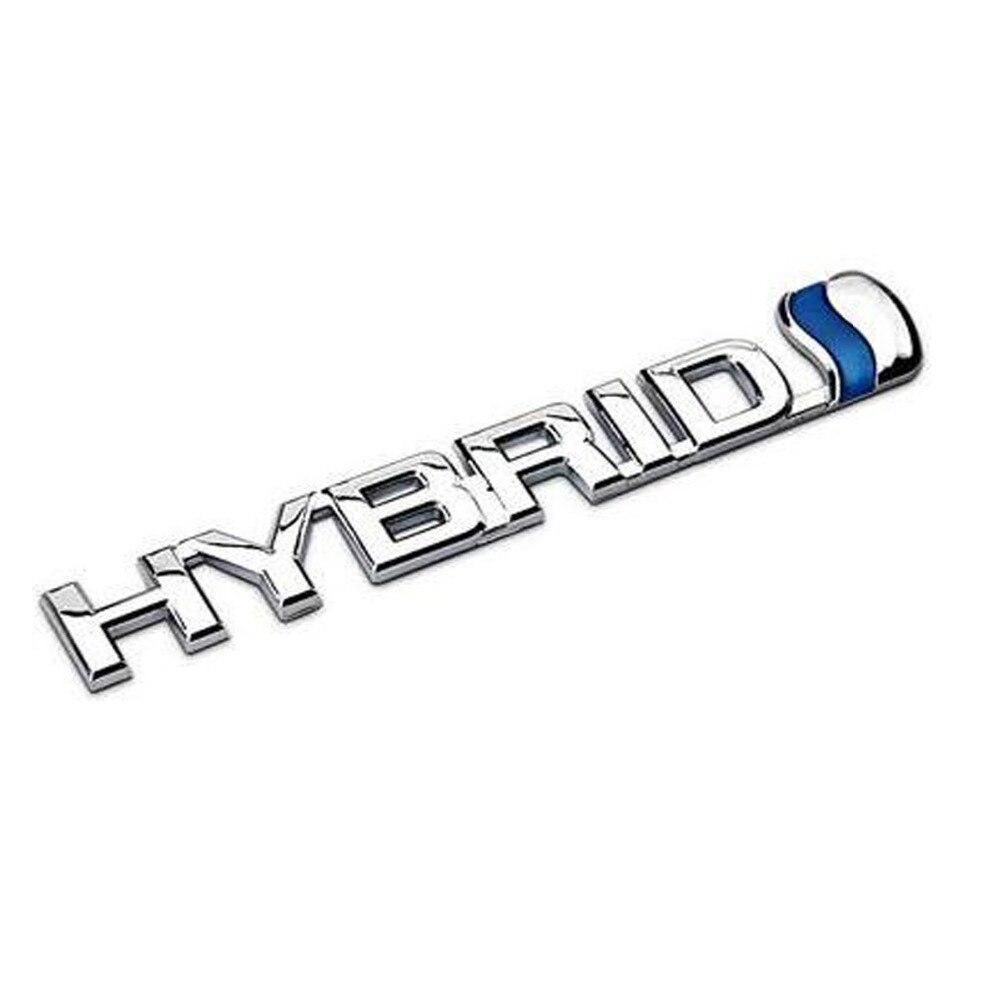Jdm Sticker 3D Metal HYBRID Car Sticker Emblem Badge For Universal Cars Moto Bike Decorative Accessories Funny Car Stickers