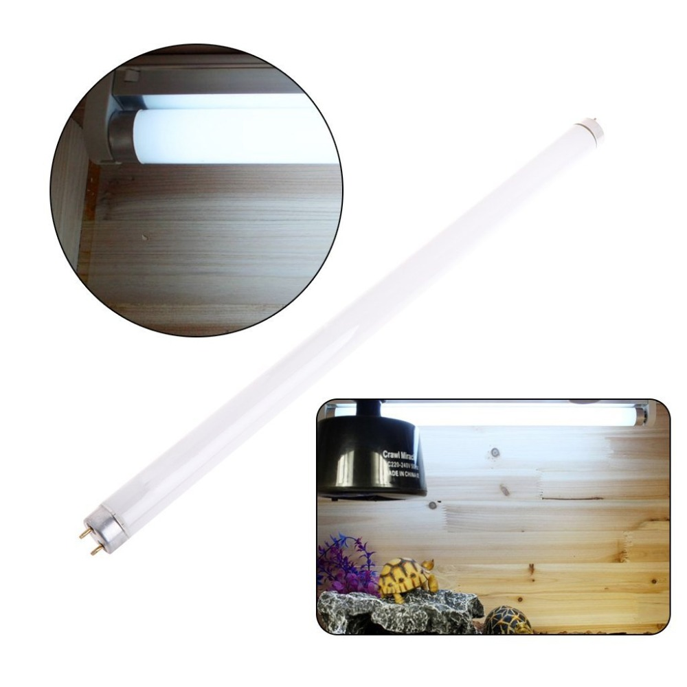 Reptile Vivarium Fluorescerande Tube Lampa Lampa T8 15w 18inch UV UVA UVB 10,0 5,0 Calcium Supply Syntes av vitaminer D3