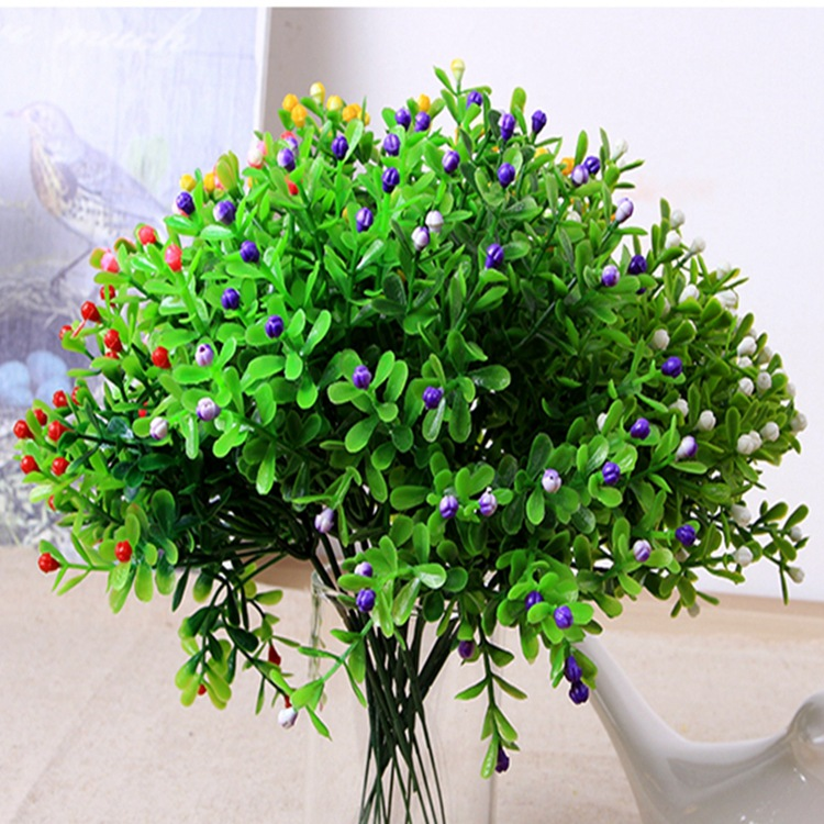 home flowers decoration simulation flower milan grain of plastic flower, grass green plant grain simulation