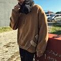 Oversize camisola das mulheres dos homens de lã quente camisola de lã casual masculino rua hiphop pullover solta moletom com capuz plus size