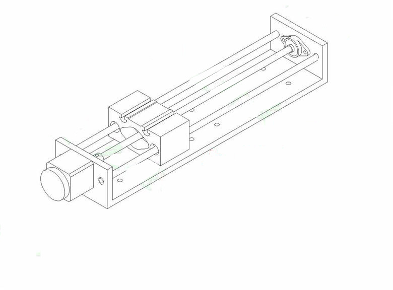 Z Axis Cnc Linear Slider Slide Rail Nema17 Stepper Motor Effective