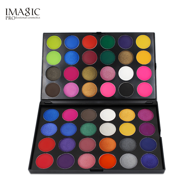 IMAGIC Eyeshadow Pallete Professional 48 Colors Eyeshadow Matte Shimmer Glitter Cosmetics Smoky Eye Shadow Makeup Powder цена