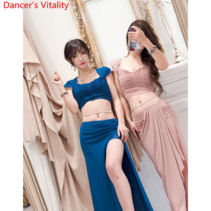Image 4 - Oryantal dans 2019 eğitim giysileri yeni en etek seti seksi iplik uzun etek oryantal acemi dansçı giyim kıyafetler yaz takım elbise
