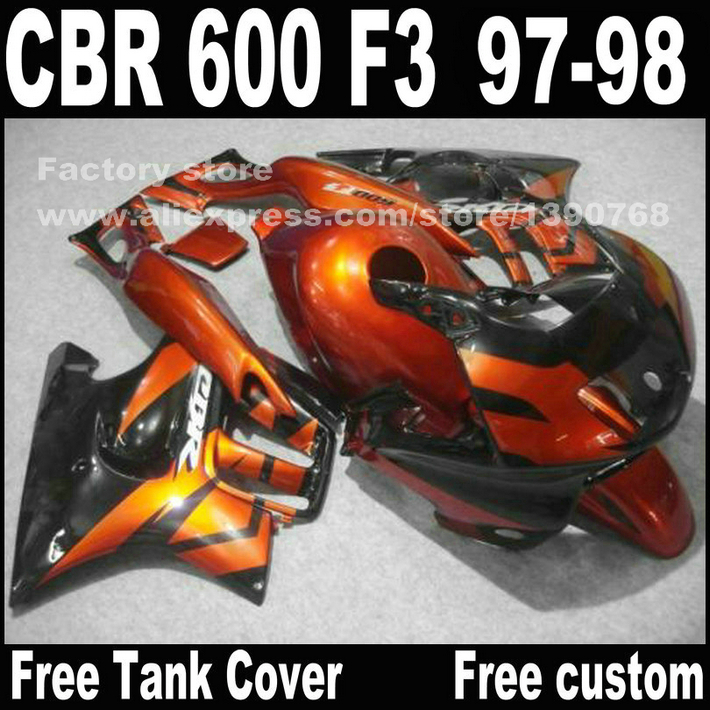 Lowest price Motorcycle parts for HONDA CBR 600 F3 fairings 1997 1998 CBR600 F3 97 98 red black fairing kit  A3 motorcycle parts for honda cbr 600 f3 fairings 1997 1998 cbr600 f3 97 98 brown white fairing kit w9 page 1