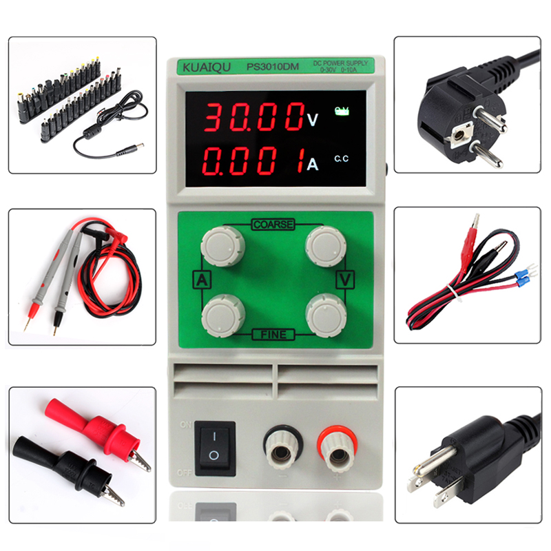 New brand original adjustable laboratory Electricity maintenance test  Mini switch DC Power Supply 30V 10A 110V-230V 0.1V/0.001A поиск семена тыква марсельеза