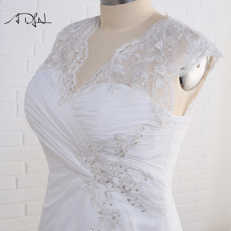 Elegant Applique Chiffon Plus Size Wedding Dress 6