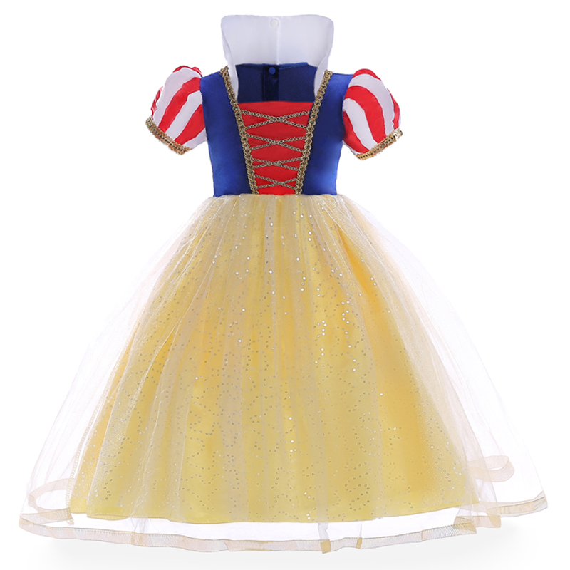 New Children Fancy Snow White Dress New Year Girls Party Performance Dresses Christmas Carnival Kids Princess Vestido Clothes мужское нижнее белье