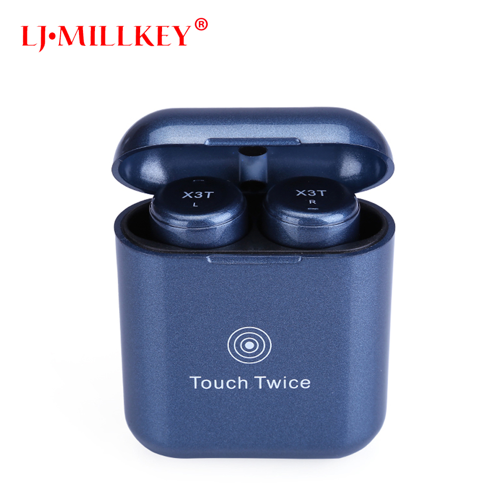 Newest Wireless Bluetooth TWS Earphone Stereo Bass Hifi Earbuds Headset wtih Mic Charger Box Fones de ouvido LJ-MILLKEY YZ138 headset bluetooth fones de ouvido bluetooth wireless earbuds in ear fone de ouvido bluetooth mini bluetooth headset qcy50