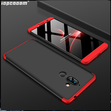 For Nokia 7 Plus Case 360 Full Protection Shockproof 3 in 1 Slim Hard PC Matte for Cover
