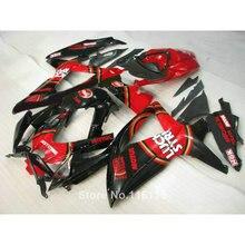 K8 inyección kit de carenado para SUZUKI GSXR 600 700 2008-2010 negro rojo LUCKY STRIKE GSXR600 GSXR750 08 09 10 set de carenados JL99