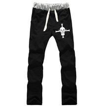 Women Anime One Piece Whitebeard Pirate Skull Edward Newgate Sweatpants Straight Casual Sweat Pants Loose Tracksuit COS Trousers