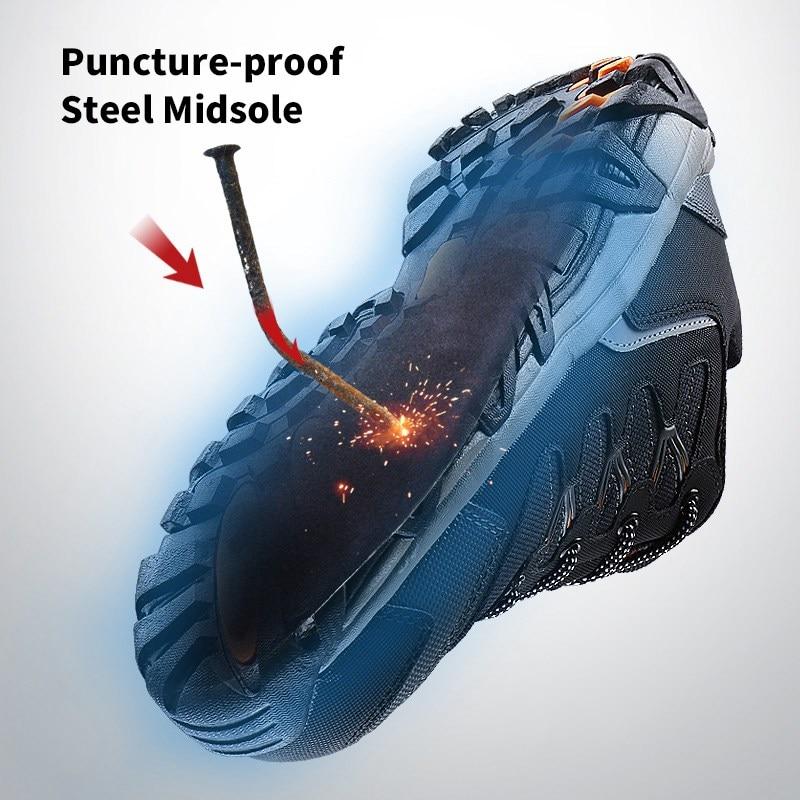 MODYF Erkekler Çelik Burunlu Iş Güvenliği Ayakkabı Rahat - Erkek Ayakkabıları - Fotoğraf 5