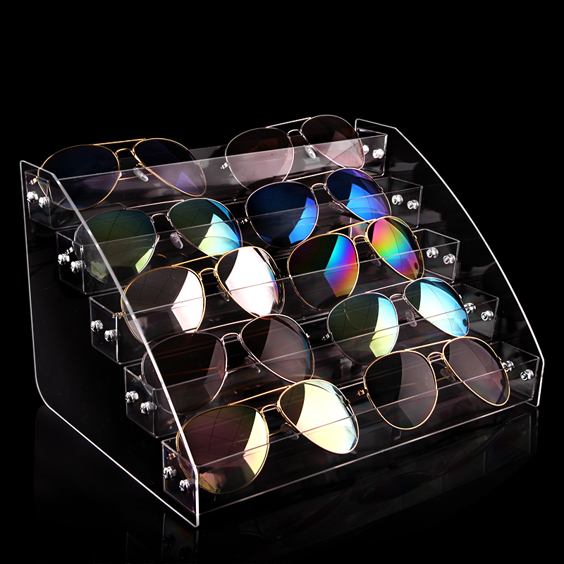 Multi Layers Acrylic Sunglasses Box Eyewear Organizer Display Case Eyeglass Glasses Frame Rack Display Sunglass Storage Box