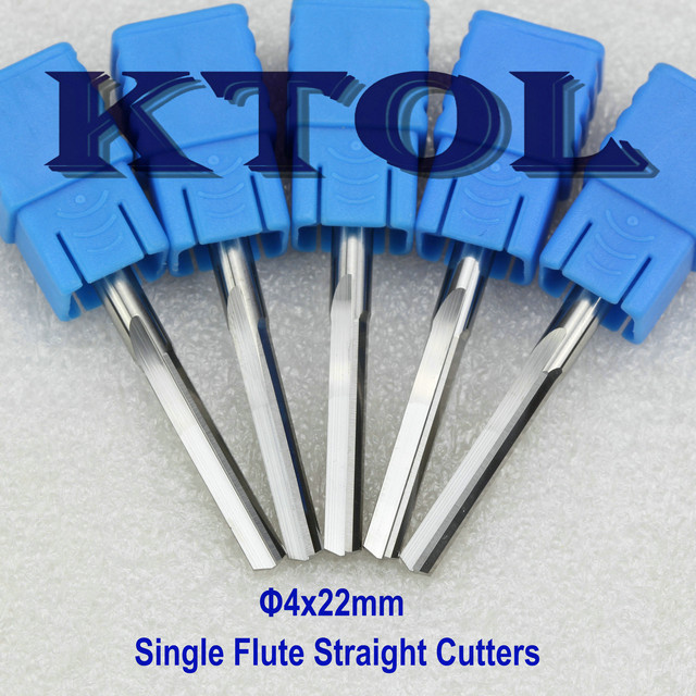4MM 2 Flute End Mill Straight Router Bit Engraving Milling Cutters 10pcs Tungsten Carbide CNC Bits