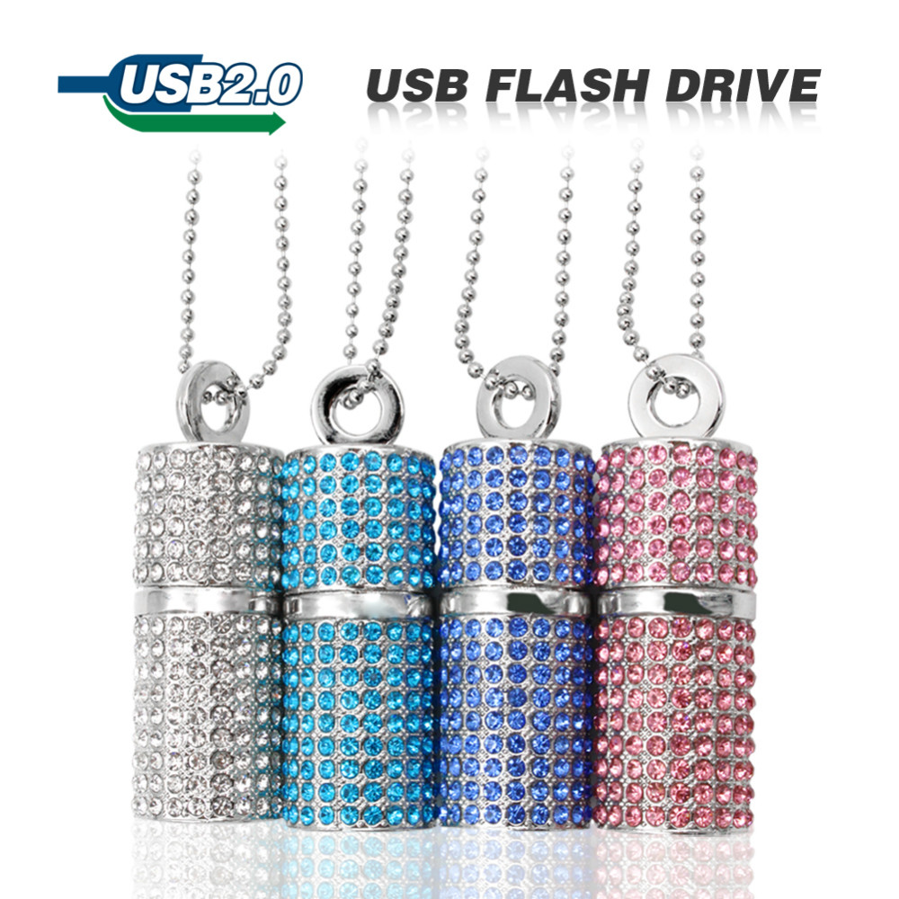 Color Silver Usb Flash Drive 4G 8G 16G 32G Pen Drive U Disk Cylinder Bamboo Pendrive Rectangle USB 2.0 Memory Stick