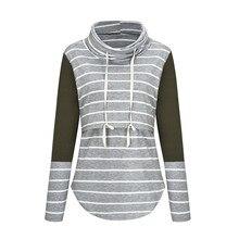 Одежда для беременных и кормящих с длинным рукавом размера плюс, водолазка, футболка для кормления грудью, Лоскутная Футболка для беременных женщин
