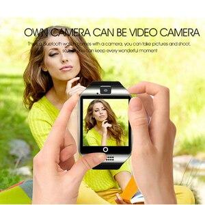 Image 4 - Bluetooth Smart Uhr Q18 Mit Touchscreen Batterie TF Sim Karte Kamera Android Telefon Smartwatch android smart watch Quadrante Chiamata