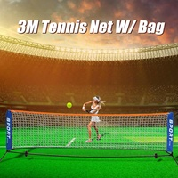 Portable 3 Meter Tennis Net Standard Tennis Net For Match Training Net With Frame Bracket Tennis Racquet Sports Network