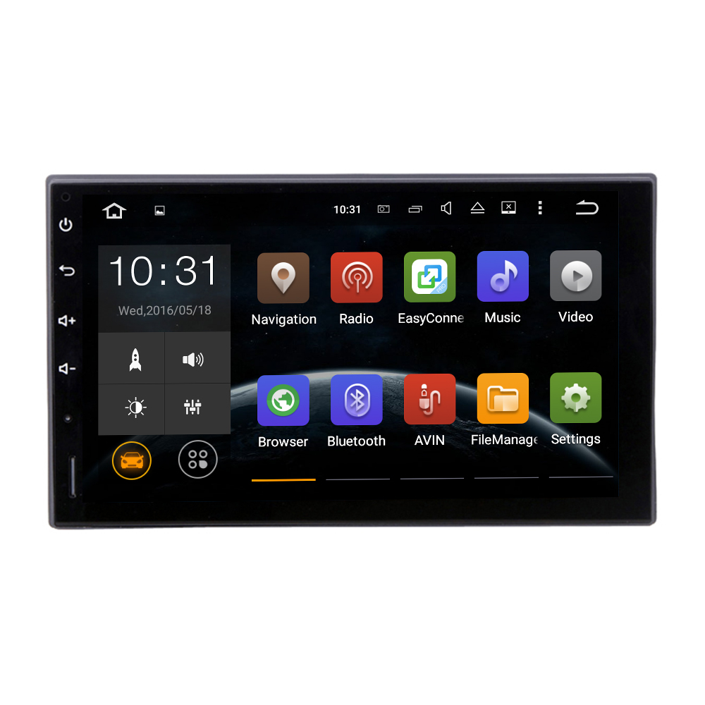 2 DIN Car Radio for Interchangeable car GPS Stereo navi car radio Headunit navi 7inch screen