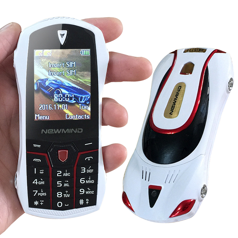 Newmind F1 Russian Dual SIM Card bar luxury small size mini sport cool supercar car model