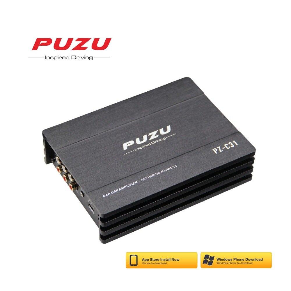 PUZU ISO câblage harnais câble Voiture DSP Amplificateur 4X150 W soutien PC outil 31 EQ android APP bluetooth sans perte USB musique