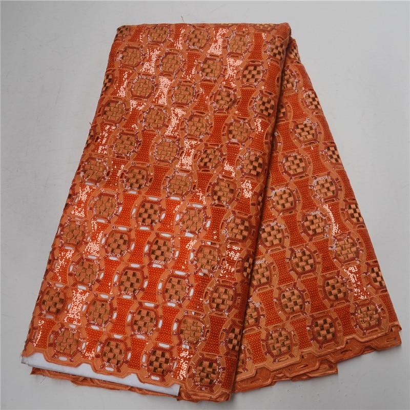 Классическое вышитое Африканское кружево тканевый шнур блестки оранжевый цвет французская органза великолепные бусины для ткань для поши