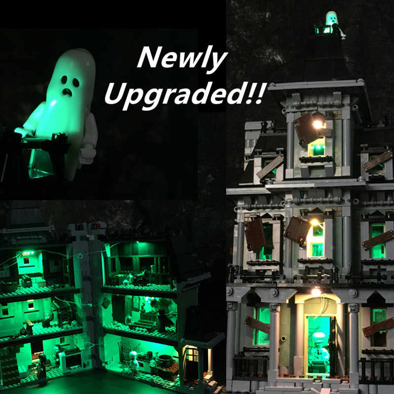 Kit de luz LED actualizado para lego Monster fighter el modelo de ladrillos de la casa embrujada Compatible con 10228 y 16007