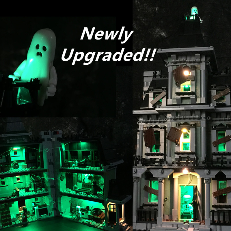 Upgraded LED Light Kit For Lego Monster Fighter The Haunted House Bricks Model  Compatible With 10228 And 16007