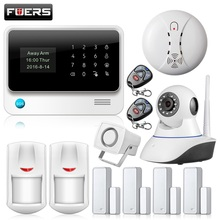 Ruso/Español teclado LCD display de pantalla Táctil IOS Android APP WIFI GSM Casa de Alarma de Seguridad Antirrobo Sistema de Alarma Inalámbrico