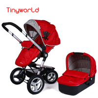 2 in 1 baby stroller with sleeping basket, foldable baby carriag with foot cover, hot sale baby stroller sets with basket
