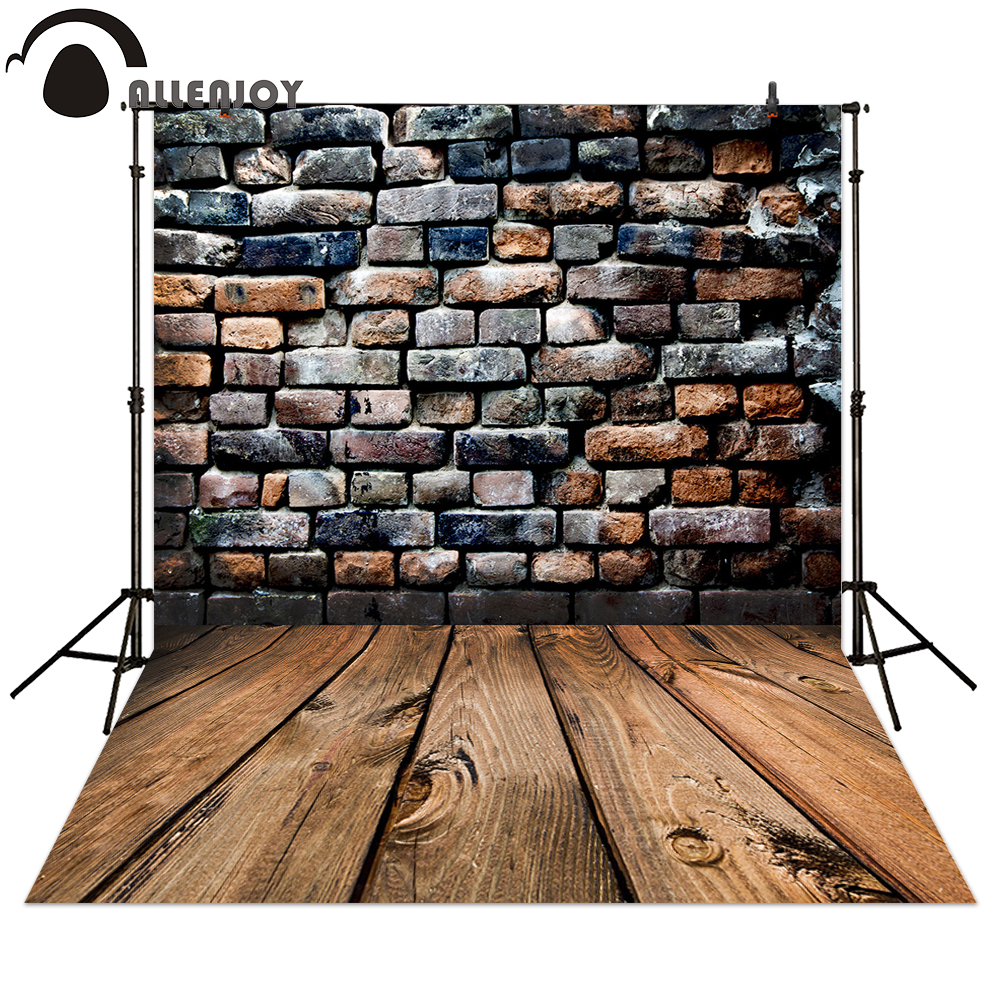 Allenjoy Photography backdrops old retro style stone wall wood background for photography shooting polyester material available