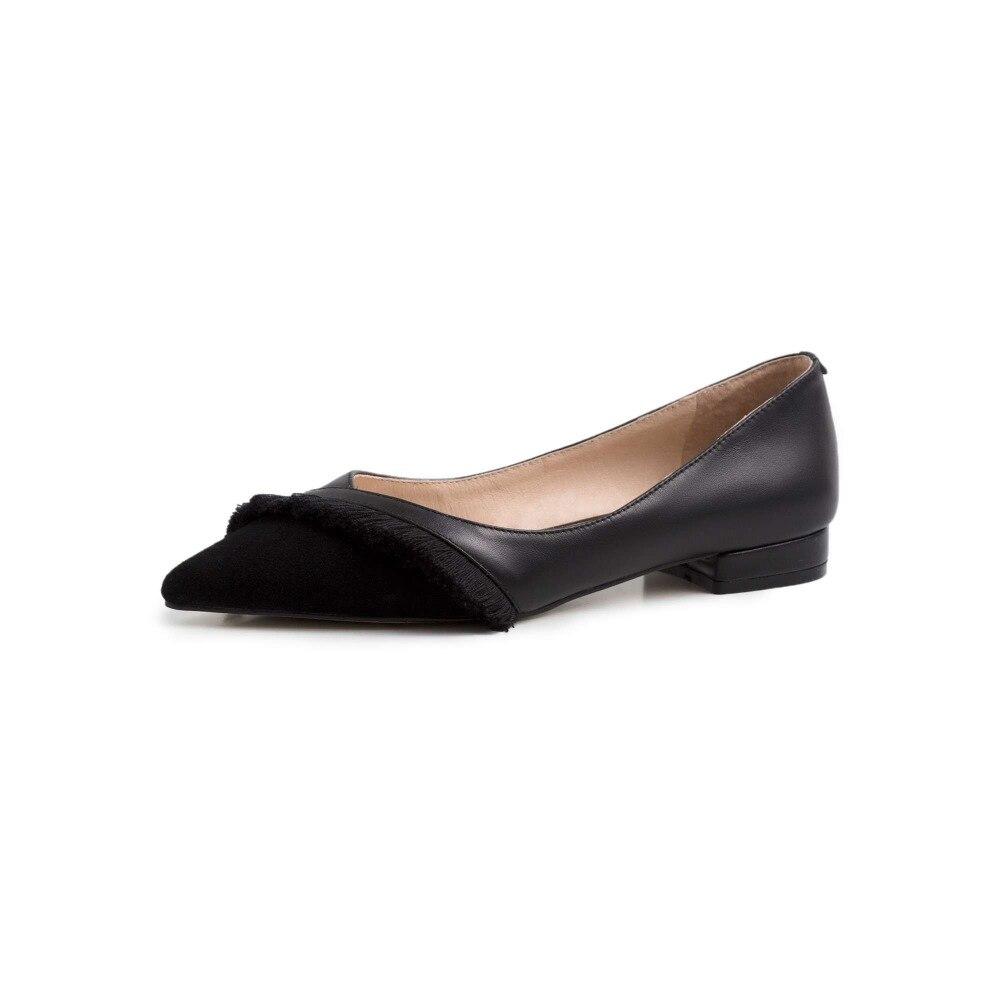 Low Beige Superstars Flach Dame L38 Elegante Heels Leder Natürliche Casual Frauen Pumpen schwarzes Müßiggänger rosa Lenkisen Kleid Schuhe Dating Spitz pEXqxzTx