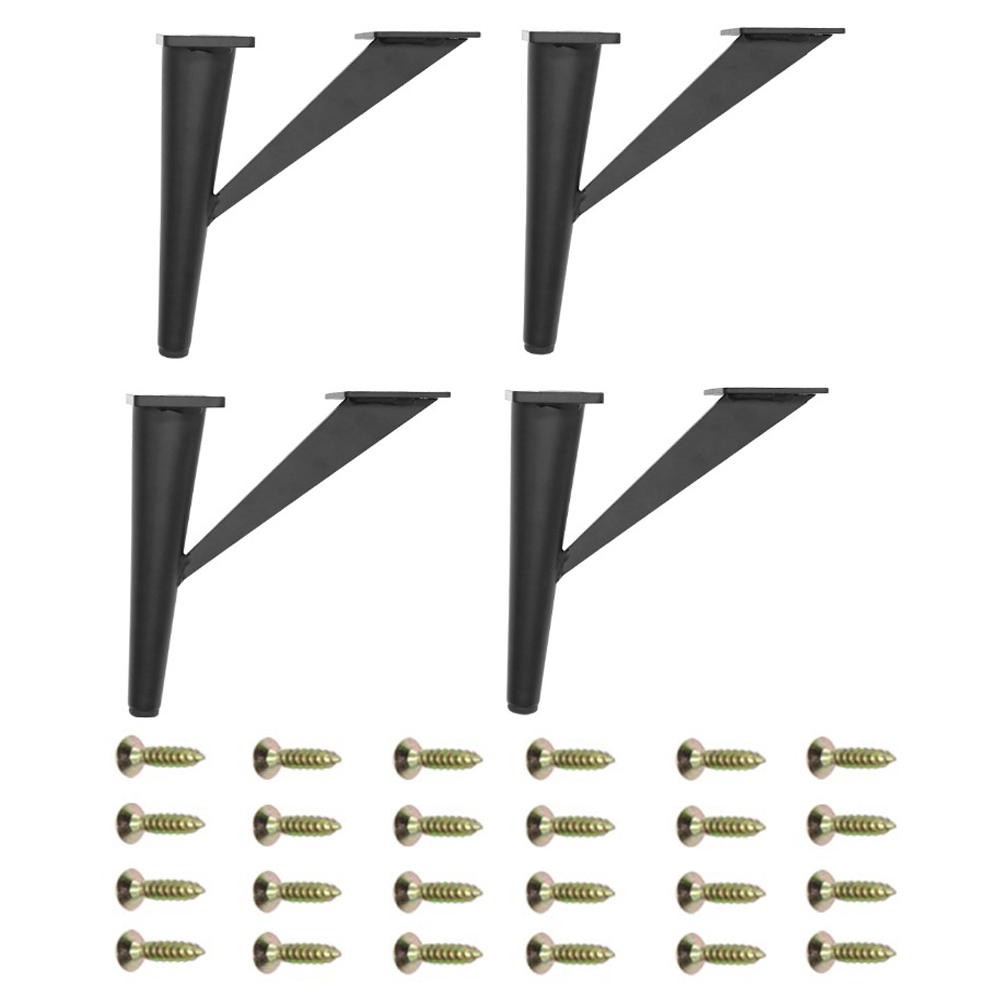 4Pcs 6inch Furniture Legs Metal Sofa Legs Metal Heavy Duty Mid-Century Modern Table Legs, For Coffee Table,TV Stand,Sofa,Cabinet