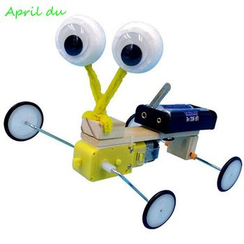April Du DIY Electric Reptile Model Fun Assembling Robot Creative Invention Scientific Experiment Toys Educational Gift theo jansen mini strandbeest model wind power beast diy educational toys handmade science experiment toys child birthday gift