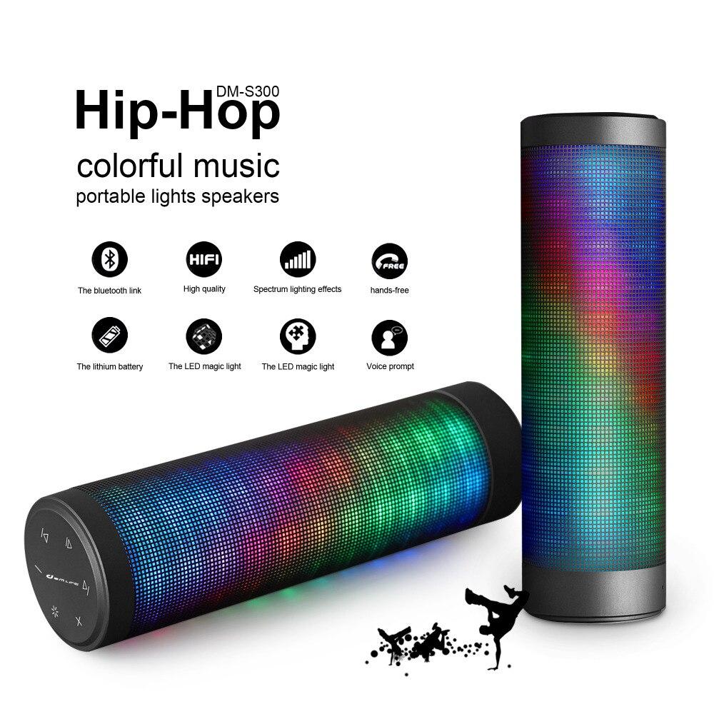 Haut-parleur Bluetooth Portable hip-hop hifi Mini coloré LED boîte de son stéréo lecteur Mp3 haut-parleurs Subwoofer