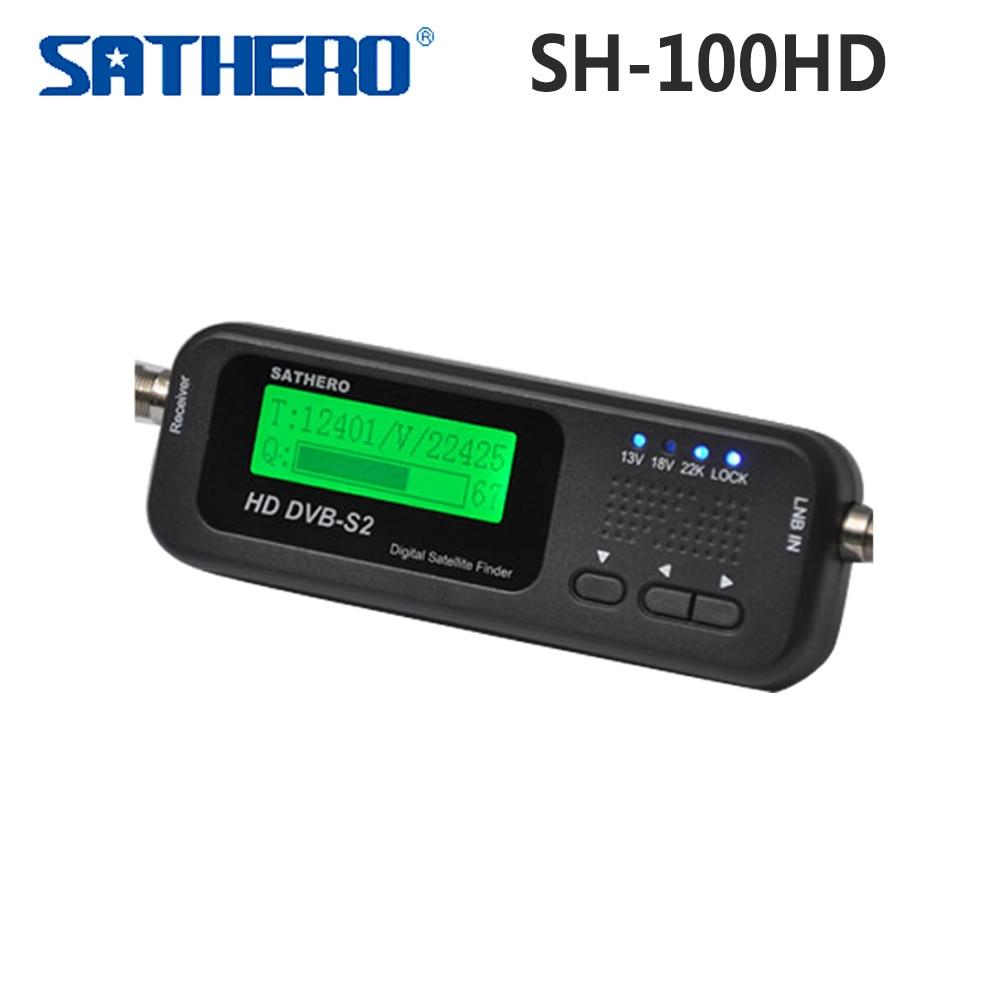 все цены на Original Sathero SH-100HD Pocket Digital Satellite Finder Meter HD DVB S2 USB 2.0 Signal DVB-S2 DVB-S SH-100 Digital SatFinder онлайн