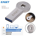 EAGET K80 USB 3.0 High Speed Pendrive USB Flash Drive 16GB 32GB 64GB for Tablet PC Coin Pen Drive with Original Retail Package