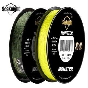 SeaKnight Monster S9 300M 9 hilo PE línea de pesca 20 30 40 80 100lb espiral inversa tecnología multifilamento línea de pesca fuerte