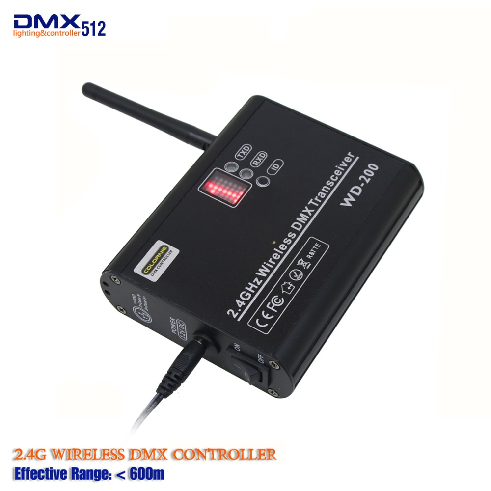 купить DHL Free shipping 2.4G DMX512 wireless receiver/transmitter controller and both way led stage lighting controller