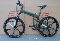 26 дюймов алюминиевый складной велосипед рама горный велосипед 21 скорость дисковые тормоза высокий мужчина велосипед MTB 4 цвет выбрать