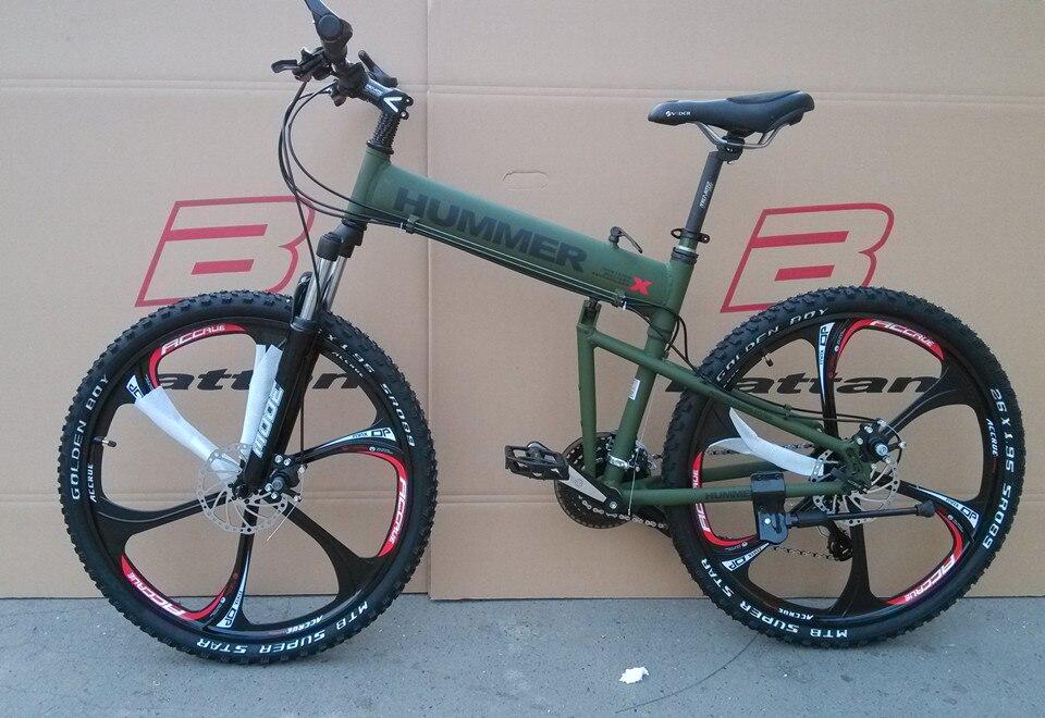 26 Inch Aluminium Frame Folding Bike Mountain Bicycle 21 Speed Disc Brakes Tall Man MTB Bike 4 Color Choose Free Shipping