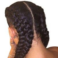 Kinky вьющиеся парик предварительно сорвал полный кружево натуральные волосы Искусственные парики с ребенком волос 130% Бразильский Glueless полн