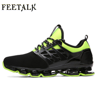 Man Sneakers Sports Shoes Leather Running Shoes Black Red Jogging Sneakers Training Shoes Autumn Winter Running
