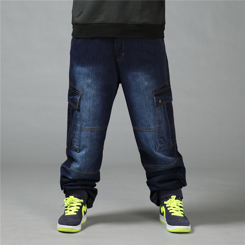 2019 New Men's Loose Jeans Spring And Autumn Trend Men's Hip-Hop Jeans Men's Large Size Trousers Size 30-42 44 46