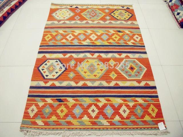 Bohmischen Boden Teppich Vintage Wolle Handwoven Kelim Wohnzimmer