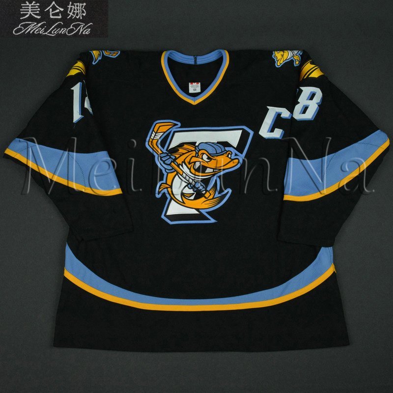 Customize ECHL Toledo Walleye 18 Jared Nightingale Jersey Alternate Black1