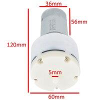 1 pz DC 12 V A Membrana Ad Alta Pressione Pompa di Aria 13L/Min 1500mA Micro Pompa A Vuoto Per Gli Elettrodomestici