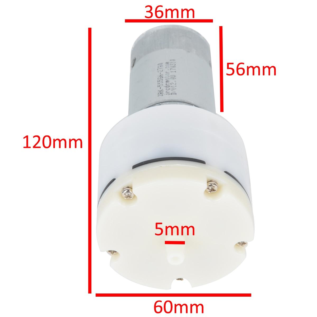 1pc DC 12V High Pressure Diaphragm Air Pump 13L/Min 1500mA Micro Vacuum Pump For Home Appliances
