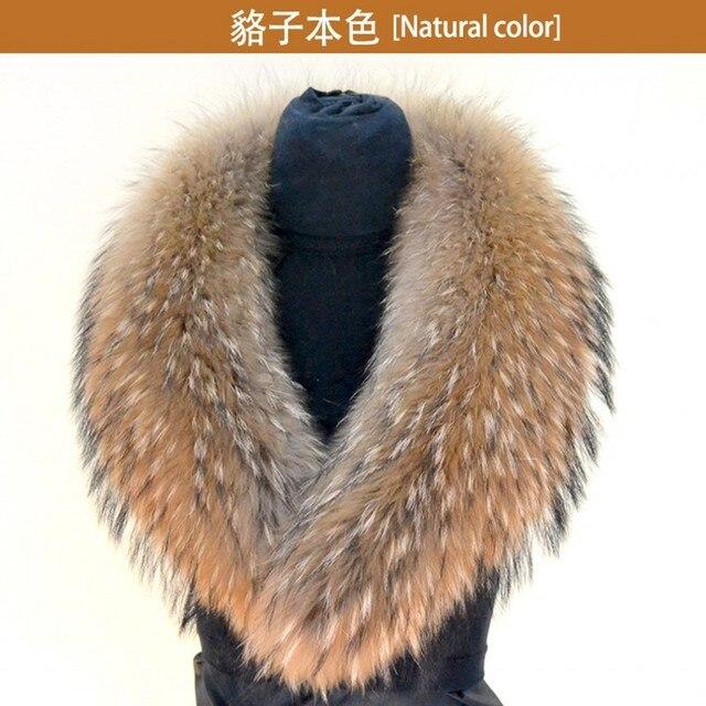 Vera pelliccia di Procione lungo collo di pelliccia di procione pelliccia  di procione sciarpa di pelliccia 4cc3c8d29ad